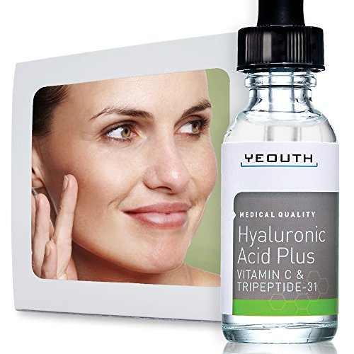 Best Anti Aging Vitamin C Serum with Hyaluronic Acid & Tripeptide 31 Trumps ALL Others. Maximum Percentage Vitamin-C. Famous Doctor on TV Says Topical Vit C Can Make Your Face Look Ten Years Younger 100% Money Back Guarantee