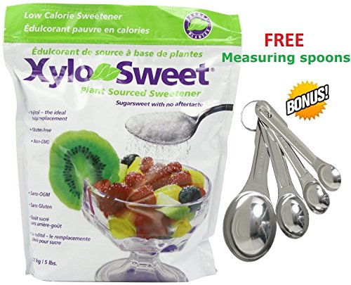 *NEW* Xlear Xylosweet Bag, 5-Pound - with set of FREE stainless steel''Practick Solutions'' MEASURING SPOONS by Xlear (Image #3)