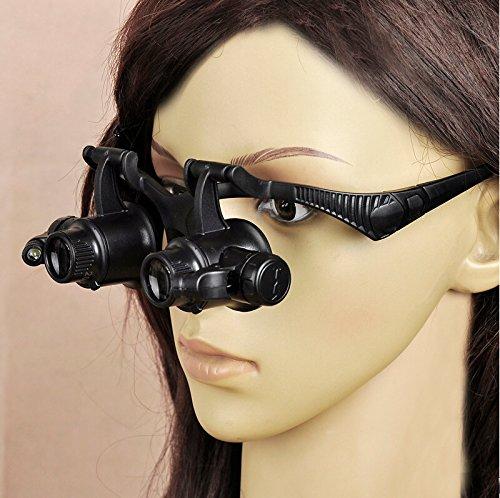 Krismile® New Coming Updating Loupe 10x 15x 20x 25x Watch Repair Glasses Style Magnifier Eyewear - New Eyewear Styles