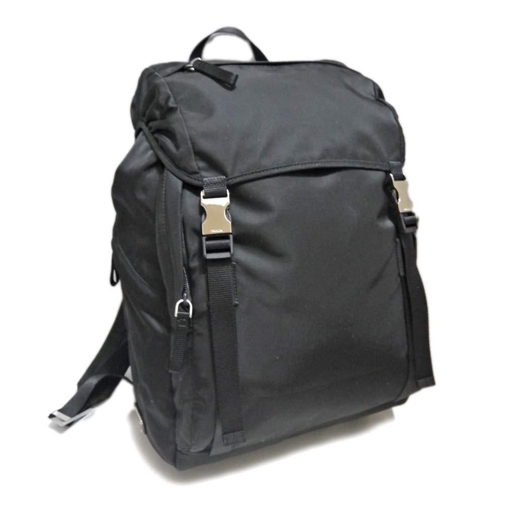 [プラダ] PRADA メンズ ナイロン バックパック(リュック) 黒 2VZ062 PRADA [並行輸入品] B07LC5PD99