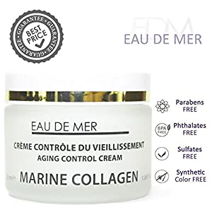 Marine Collagen Aging Control Cream, Anti Aging Creams for Face - Reduces Wrinkles, Fine Lines and More for Youthful Radiant Skin
