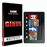 Kindle Fire 2017 7 Inch Glass Screen Protector ,LFOTPP 9H Hardness Tempered Glass Screen Protector for Kindle Fire 7.0 Inch 2.5D Rounded Edge HD Anti Scratch High Clarity