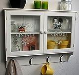 Wandschrank Küchenregal Hängeschrank Glastüren Landhaus Schrank SP65