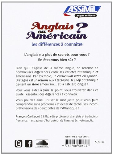 American British rencontres différences