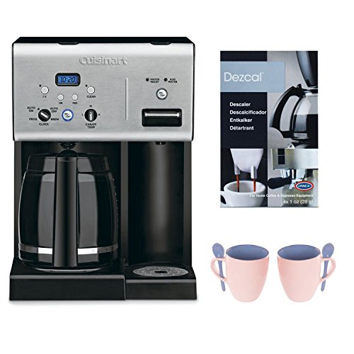 Cuisinart CHW-12 Coffee Plus 12-Cup Programmable Coffeemaker + Coffee/ Espresso Descaler + Handy Glass Coffee Mug 2pcs (Certified Refurbished) (Cuisinart Dcc2800 Coffee Maker compare prices)