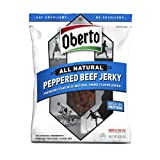 Oberto All Natural Peppered Beef Jerky, 3.25 Ounce Package (Pack of 6)