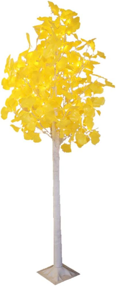 Lámparas de pie Árbol de Ginkgo dorado Glitter Twig Tree LEDs Luz ...