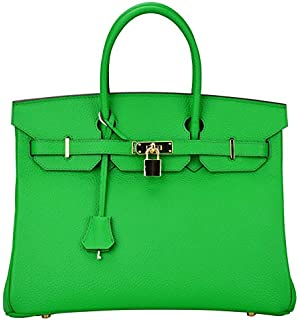 replica hermes birkin 40 - Bagroo Genuine Leather Handbag Padlock Handbags Satchel Padlock ...