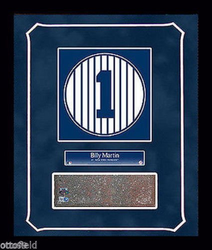 - BILLY MARTIN OLD YANKEE STADIUM MONUMENT PARK #1 BRICK 14x18 FRAMED GAME USED NY RETIRED NUMBER PLAQUE