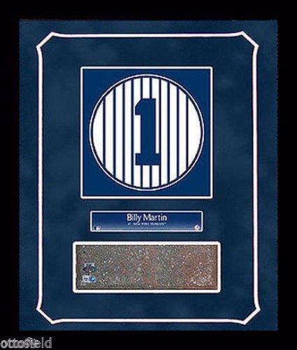 BILLY MARTIN OLD YANKEE STADIUM MONUMENT PARK #1 BRICK 14x18 FRAMED GAME USED NY RETIRED NUMBER (Monument Park Brick)