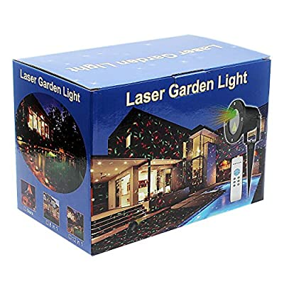 Vnice IP65 Waterproof outdoor LED Laser Light Projector, Laser Shows For Christmas, halloween, Holiday, Party and Garden Lawn Decorations.