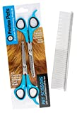 Protea Pets | Cat & Dog Grooming Scissors Kit & Premium Comb | Safety Rounded Tip Scissors For Trimming & Thinning Scissors | Sculpt Fur + Face + Paws Like A Professional & Save On Parlour Fees!