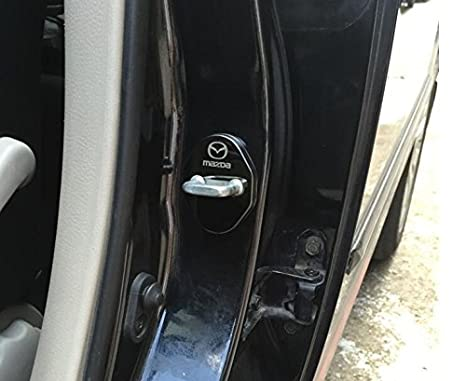 Mitsubishi 4PCS Stainless steel Door lock Striker Cover Door Striker Cover for Mitsubishi Lancer EX FORTIS Galant ASX PAJERO Outlander Pajero Sport