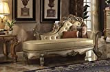 Best Benzara Beddings - Wooden Gracious Chaise with 2 Pillows, Gold Patina Review