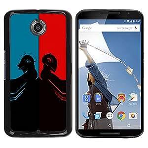 YiPhone /// Prima de resorte delgada de la cubierta del caso de Shell Armor - Daft Duel Punk Band - Motorola NEXUS 6 / X / Moto X Pro