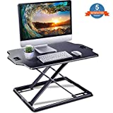 IMtKotW Standing Desk Converter Height Adjustable Desk - Sit Stand Desk Converter - Laptop Desk Riser - The Best Adjustable Standing Desk- 32'' Tabletop Workstation (Black) …