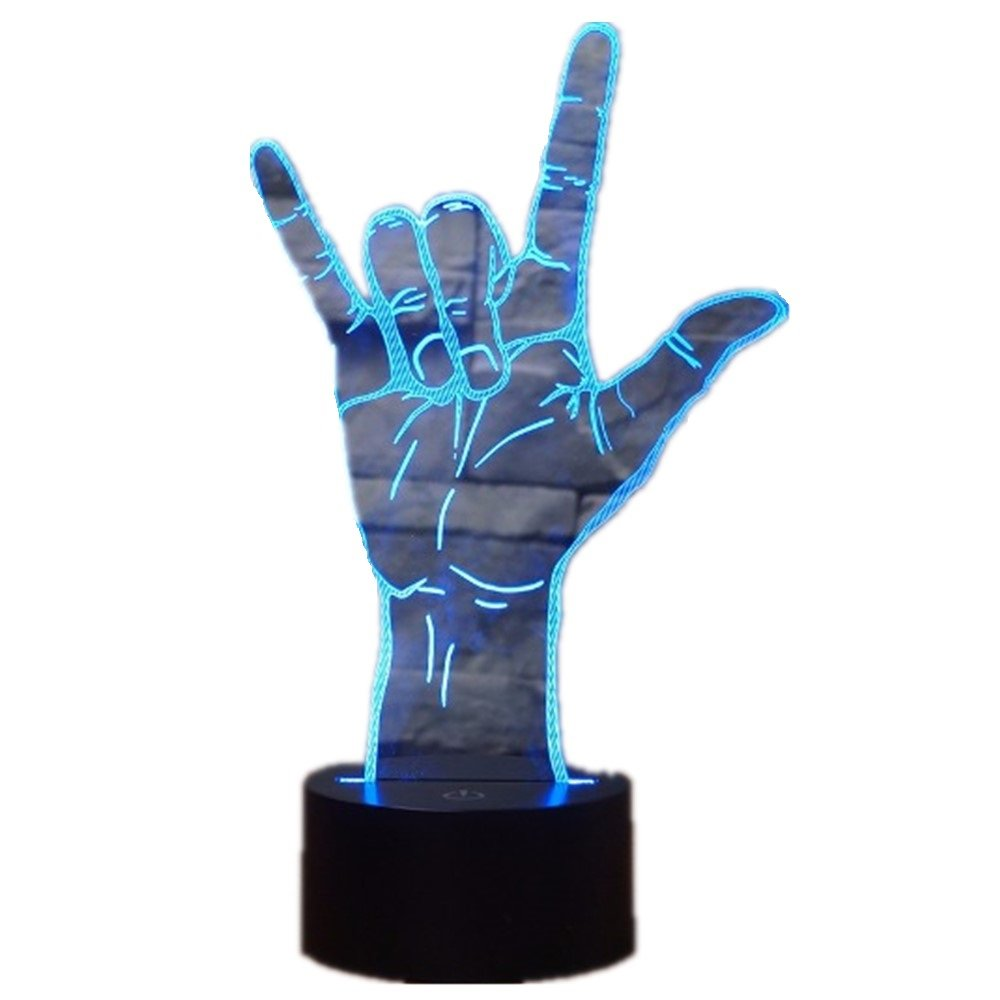3d lamp 3D Optical Illusion I Love You Sign Language LED Hologram Night Light USB Operated Romantic Valentine' Day Party Decoration
