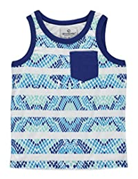 "Akademiks Little Boys' Toddler ""Reptilian Striped"" Tank Top"