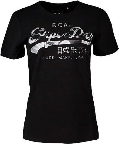 Superdry Vintage Logo Photo Rose Camiseta Mujer Black XXS: Amazon.es: Ropa y accesorios