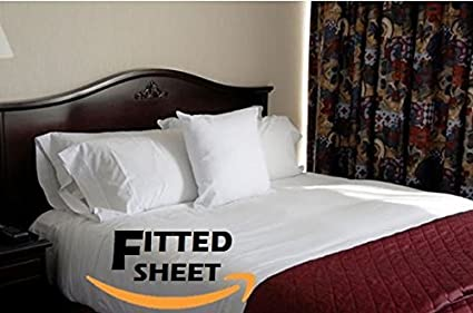 Charming Deluxe Hotel Bedding, Premier KING Fitted Bed Sheet   White