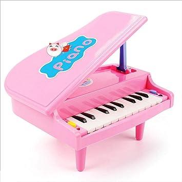 Teclado de Juguetes educativos para niños 11 Llaves de Regalo de cumpleaños de Piano Rosa de