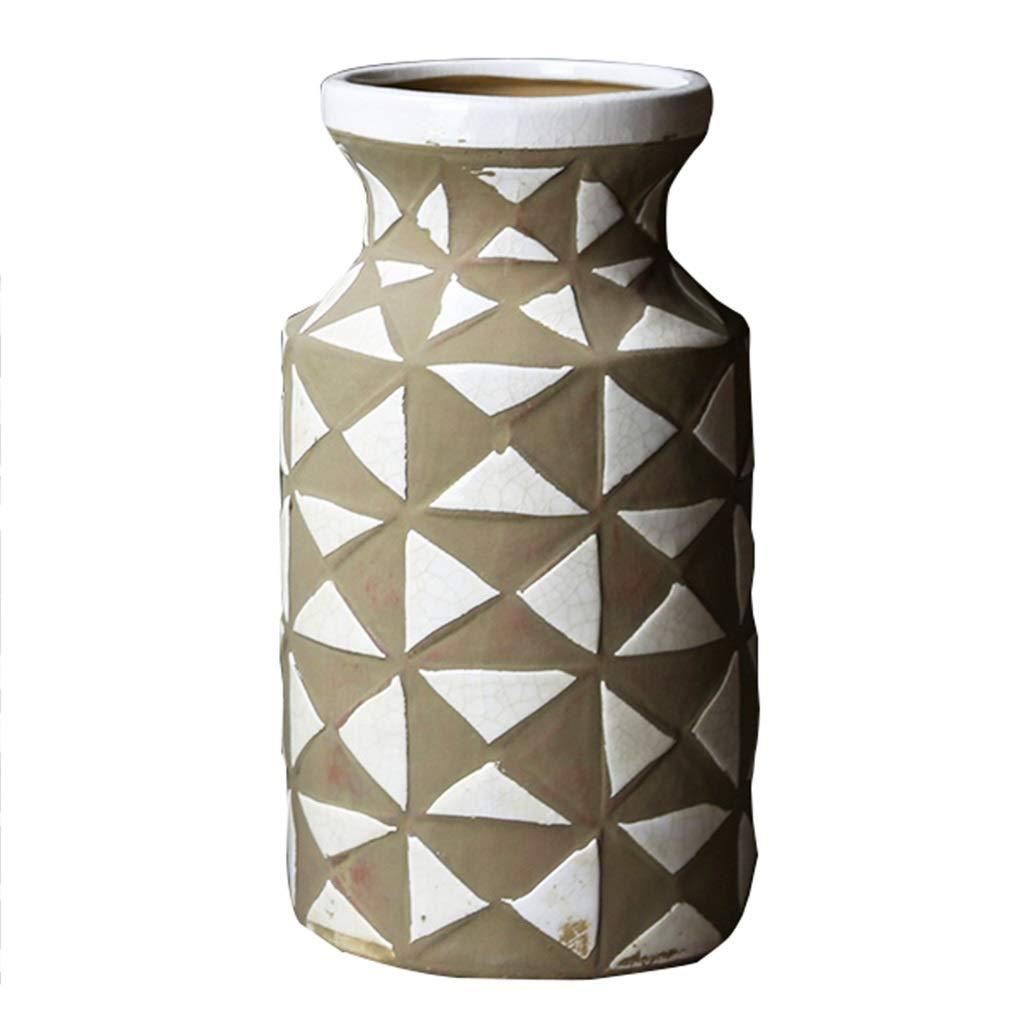 フラワーベース花器 花瓶陶器のフラワーアレンジメントコンテナクリエイティブリビングルームの花器家の装飾寝室研究の装飾工芸品ギフト (Color : 白, Size : 17*14.3*31.8cm) B07S9Z4ZGZ 白 17*14.3*31.8cm