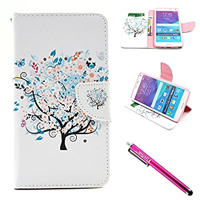 Galaxy Note 4 Case, Firefish [Kickstand] [Card Slots] Slim Flip PU Leather Wallet [Shock Absorption] Scratch-Resistant Protect for Samsung Galaxy Note 4