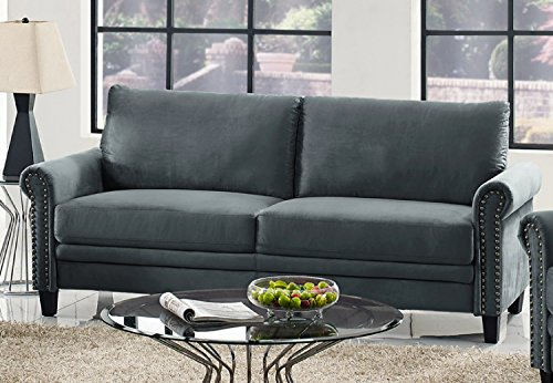 Lifestyle Solutions Arlington Sofa, Charcoal Grey