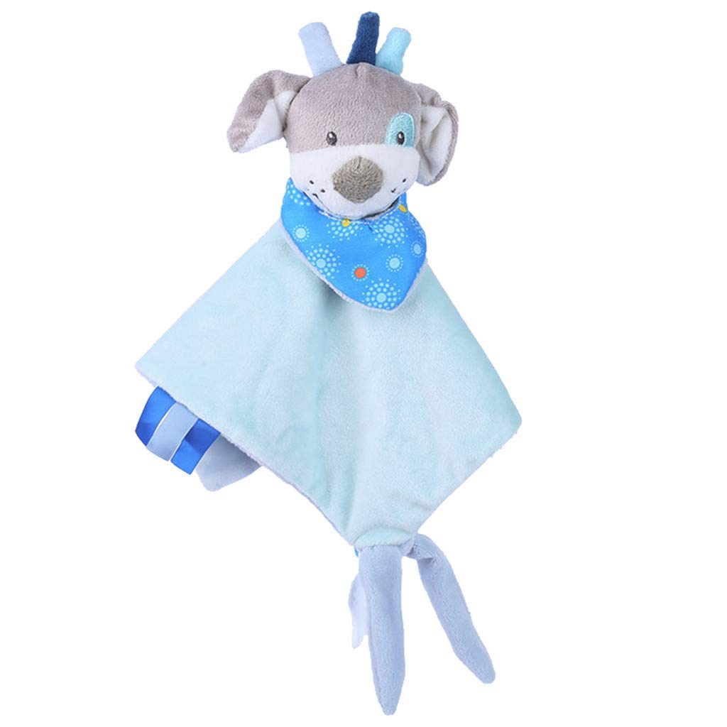 Amazon.com: LtrottedJ Newborn Soft Baby Teddy Bear Puppet Toy Gift Snuggle Baby Comforter Blanket (Sky Blue): Toys & Games