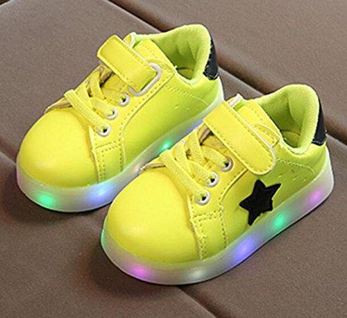 Image of Otamise Girls' 11 Color Led PU Sneakers Light Up Flashing Skateboard Shoes (Toddler/Little Kid/Big Kid) green US 11M