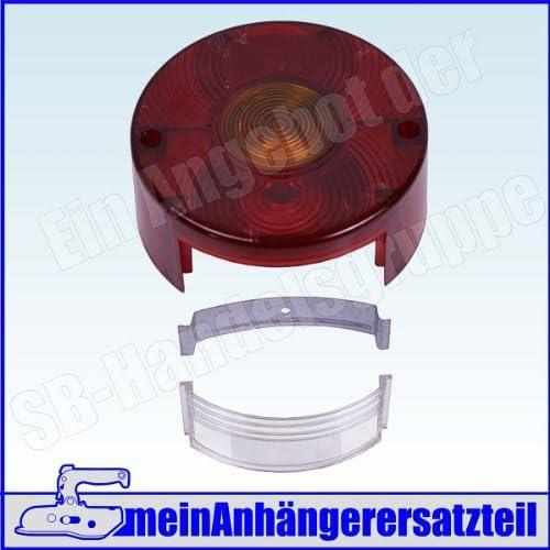 Lichtscheibe Ersatzglas Rund Mit Kzl Für Ddr Rückleuchte Rücklicht Pkw Anhänger Auto