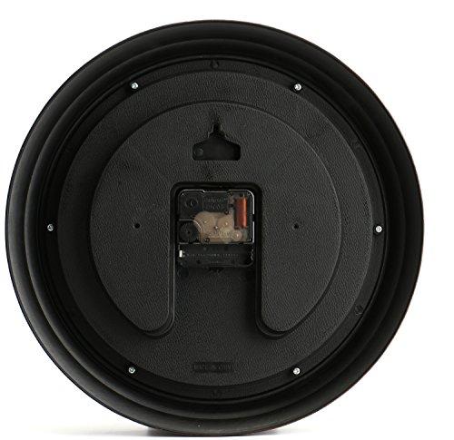 Bekith-12-Inch-Round-Classic-Clock-Retro-Non-Ticking-Quartz-Decorative-Wall-Clock