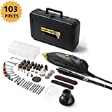 DETLEV PRO Rotary Tool Kit with 100 Accessories 6 Variable Speed with Flex