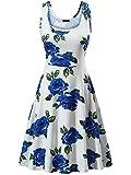 #7: FENSACE Women's A Line Sleeveless Floral Summer Dress
