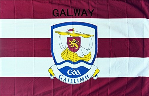 - OFFICIAL IRELAND GAA crest COUNTY FLAG GALWAY 152cm x91cm very limited stock