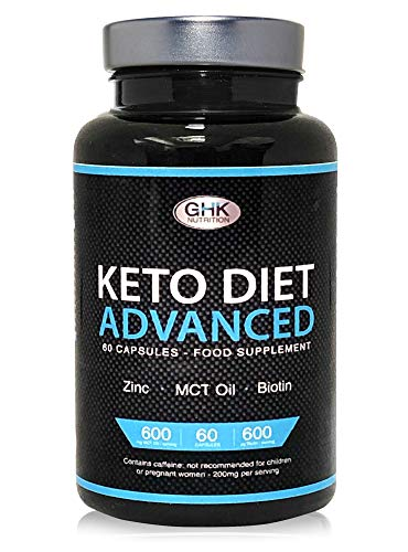 Keto Diet Pills – 1 Month Supply UK Manufactured – High MCT Oil, Biotin & Green Tea Content – Ketogenic Weight Loss…