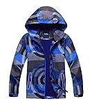M2C Boys Hooded Full-Zip Windproof Fleece Lined Active Jacket 9/10 Blue