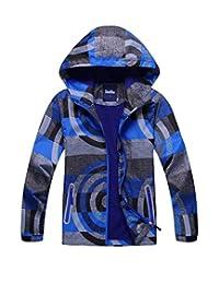 M2C Boys Hooded Full-Zip Windproof Fleece Lined Active Jackets