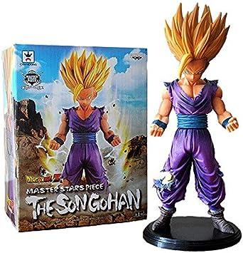 6 Estilos 13-23cm Anime Dragon Ball Z Figura Super Saiyan Son Goku Son Gohan Buu Figuras de PVC Modelo Juguetes, Azul Gohan con Caja: Amazon.es: Juguetes y juegos