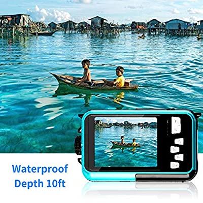 Underwater Camera 24.0MP Waterproof Digital Camera Full HD 1080p Selfie Dual Screen Video Recorder Point and Shoot Digital Camera