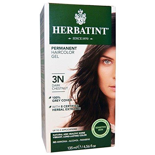 Herbatint, Permanent Hair Color, 3N, Dark Chestnut, 4.56 fl oz (135 ml) - 2pc by Herbatint