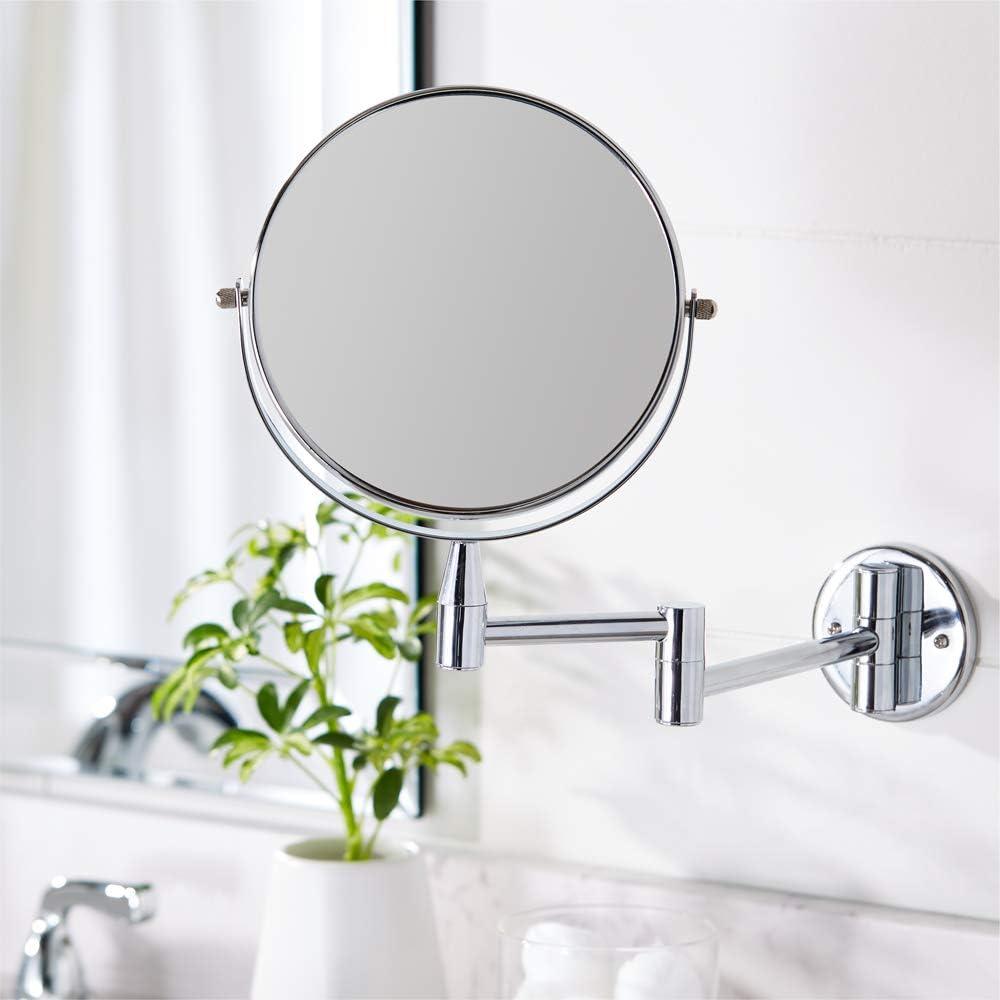 chrom/é x1//x5 Basics Miroir grossissant /à montage mural