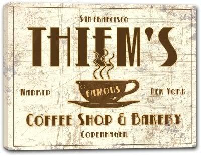 "THIEM'S Coffee Shop & Bakery Stretched Canvas Print 16"" x 20"""