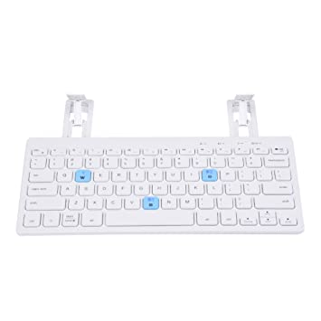 Beimaji Trade Inalámbrico Teclado Bluetooth Ultra-Slim Universal portátil Teclado con Soporte para Windows Android iOS PC Tablet Smartphone Blanco Blanco: ...