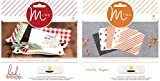 MINC Paper Packs for Foiling - 6 x 6 Inch Cardstock with Reactive Toner Designs - Heidi Swapp Christmas Pack & After Dark Crate Paper Pack - 48 Pieces