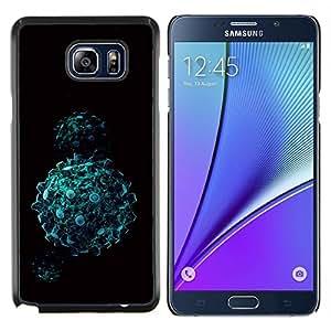 KLONGSHOP // Cubierta de piel con cierre a presión Shell trasero duro de goma Protección Caso - Bolas abstractas - Samsung Galaxy Note 5 5th N9200 //