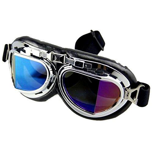 OMG_Shop Scooter Aviator Pilot Cruiser Motorcycle Ski Road Goggles Helmet Eyewear - And Sunglasses Difference Between Aviator Pilot