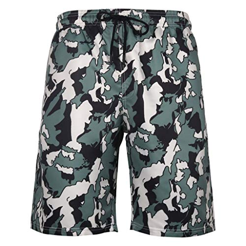 Men 's Casual Beach Pant,Male Loose Shorts Summer Swim Trunks Elastic Waist 4D Print Graphic Short Trousers