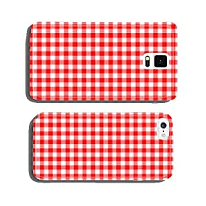 red traditional gingham background cell phone cover case iPhone5