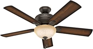 Hunter Fan Company Hunter 54092 Transitional 52``Ceiling Fan from Matheston collection in Bronze/Dark finish, 54-inch, Onyx Bengal